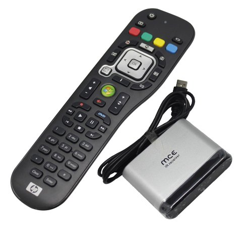 New Edition HP OEM Window Media Center MCE PC Remote Control and Infrared Receiver for Windows7 Vista Home Premium and Ultimate Edition (Discontinued by ()