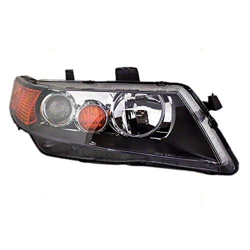 (BROCK HID Headlight Headlamp Lens w/Black Housing Passenger Replacement for 04-05 Acura TSX 33101SECA12)