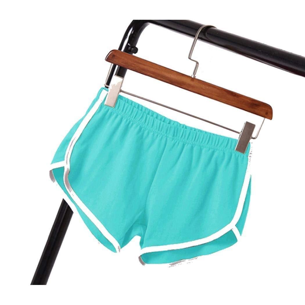 YUNGYE Frauen beil/äufige Feste Sommersport-Kurzschl/üsse d/ünne Gymnastik-Trainings-mittlere Taillen-lose Yoga-elastische Taillen-Kurzschl/üsse