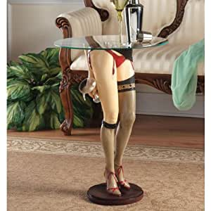 Design Toscano Babette Sculptural Glass-Topped Table