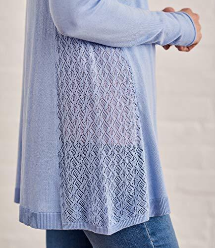 Mélangé Femme Détail Blue Overs Coton Pointelle Ash Pull Wool E0wqI0