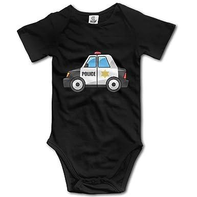 XIONGER Policía Cartoon Cars bebé Onesie Bodysuit Trajes ...