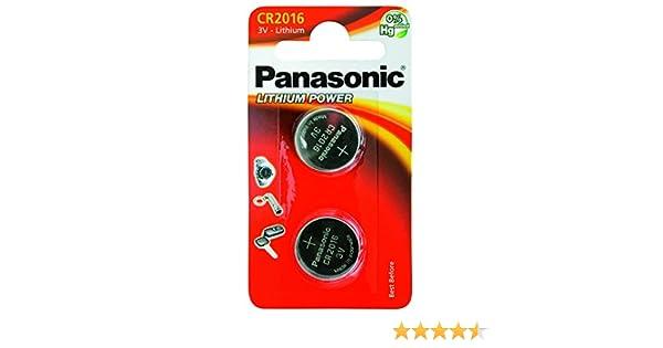 Panasonic CR-2016EP/2B - Pilas no-recargables (Alcalino, 3 V, 90 mAh, 1.6 g), 2 unidades: Amazon.es: Electrónica