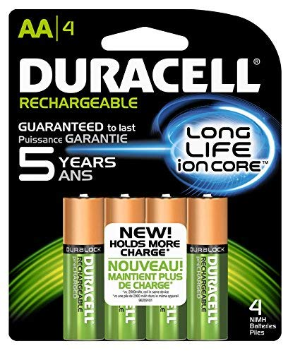 - Duracell Rechargeable Long Life AA-4 Nimh 4pack 2500/mAh