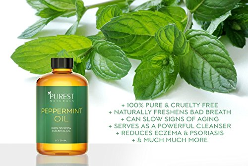 Details for Purest Naturals Peppermint Essential Oil - 100% Pure & Natural Therapeutic Grade - Best Aromatherapy Oil For Diffuser - 30mL 1 Oz from Purest Naturals