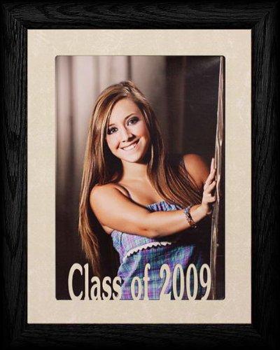 5x7 Jumbo Class of 2009 Portrait Senior/Graduate School Picture/Photo Keepsake Frame ~ BLACK ()
