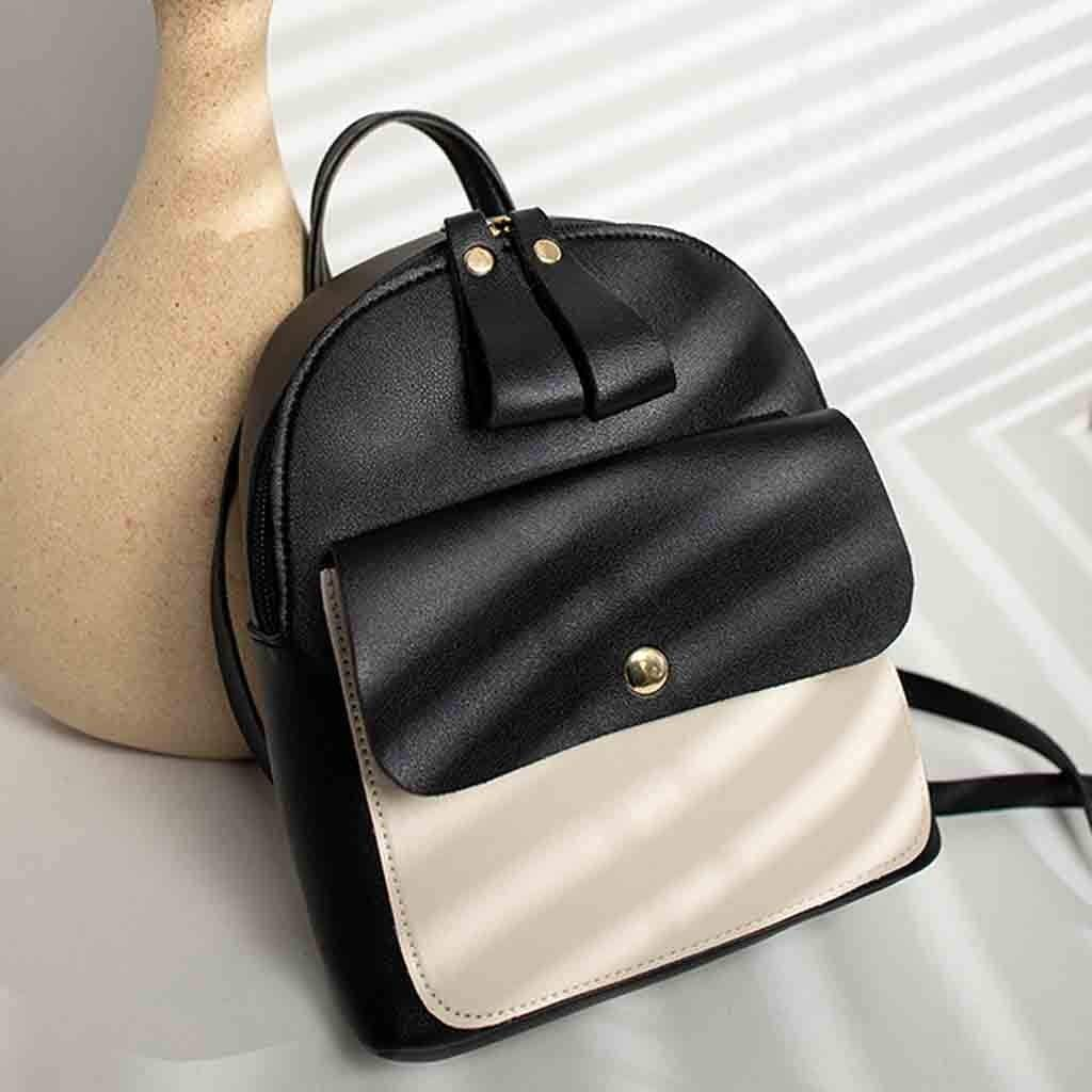 Clearance Wobuoke Fashion Lady Shoulders Small Backpack Leather Purse Mobile Phone Messenger Bag