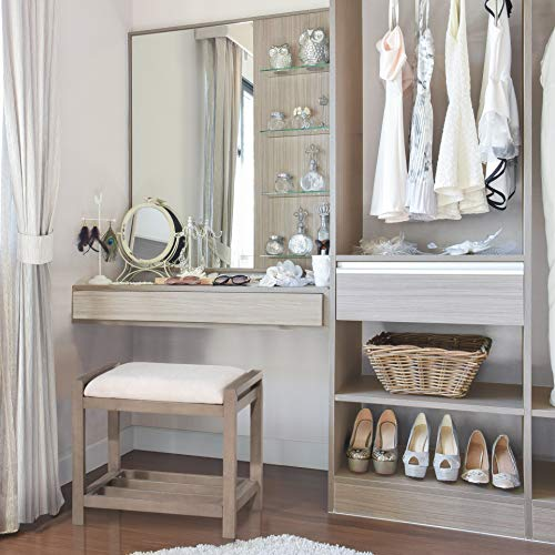 Hillsdale Furniture Amelia Vanity Stool, Antique Gray