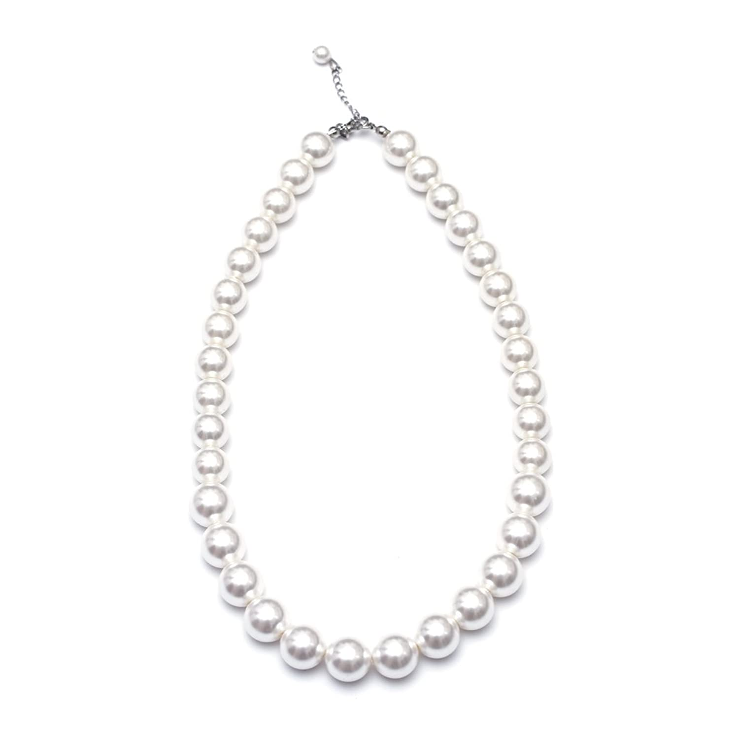 6db1c377f These premium, radiant white pearl necklaces for girls and teens are  stylish, trendy and fun. Playing dress up or roleplaying with friends as  has never been ...