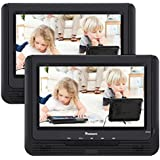 NAVISKAUTO 9 Dual Screen Portable DVD Player in Car for Kids with Built-in Rechargeable Battery, Last Memory and Region-Free