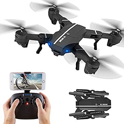 Plegable Drone, Kingtoys 8807W RC Drone con WiFi 2.0MP HD cámara ...