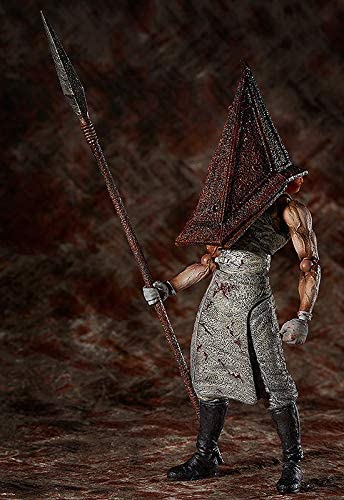 AMrjzr Figma SP055 Silent Hill 2 Testa Triangolare Testa piramidale Rossa Testa in Ferro Grande Mobile-1 Style-15CM
