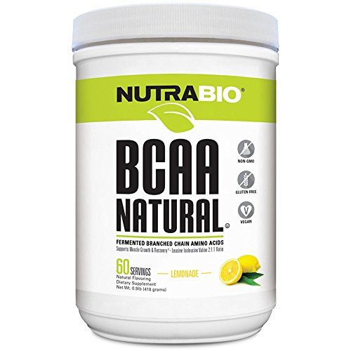 NutraBio BCAA Natural Powder - 60 Servings (Lemonade)