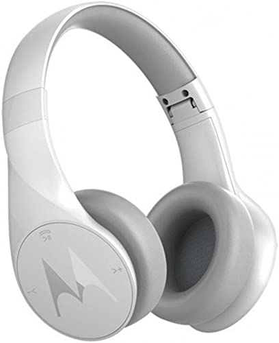 Motorola Pulse Escape Wireless Over-Ear Headphones – Alexa Enabled – White SH012WH