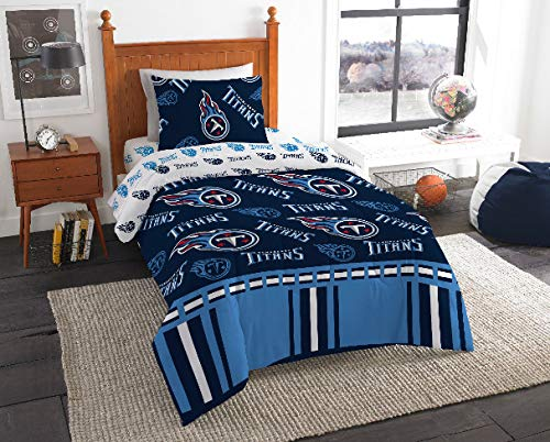 (Tennessee Titans NFL Twin Comforter & Sheet Set (4 Piece Bed in A Bag), New! + Homemade Wax Melts)