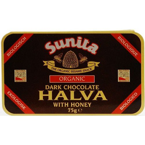 (12 PACK) - Sunita - Org Dark Chocolate Halva | 75g | 12 PACK BUNDLE