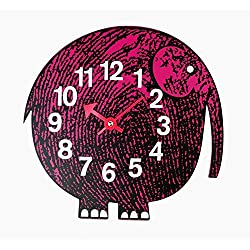 George Nelson Stilnovo Telechron Zoo Timer Elephant Wall Clock, Purple