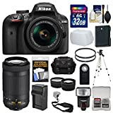 Nikon D3400 Digital SLR Camera & 18-55mm VR & 70-300mm DX AF-P Lenses with 32GB Card + Case + Flash + Tripod + Tele/Wide Lens Kit Review