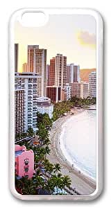 iPhone 6 Case, iPhone 6 Cases -Waikiki Beach Hawaii TPU Rubber Soft Case Back Cover for iPhone 6 Transparent