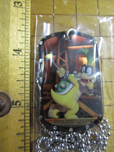 2015 Super Mario Dog Tags #22 Iggy Koopa Necklace Dogtag w/Chain by Enterplay