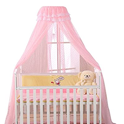 Jiyaru Baby Mosquito Net Lace Dome Nursery Netting Toddler Bed Crib Canopy