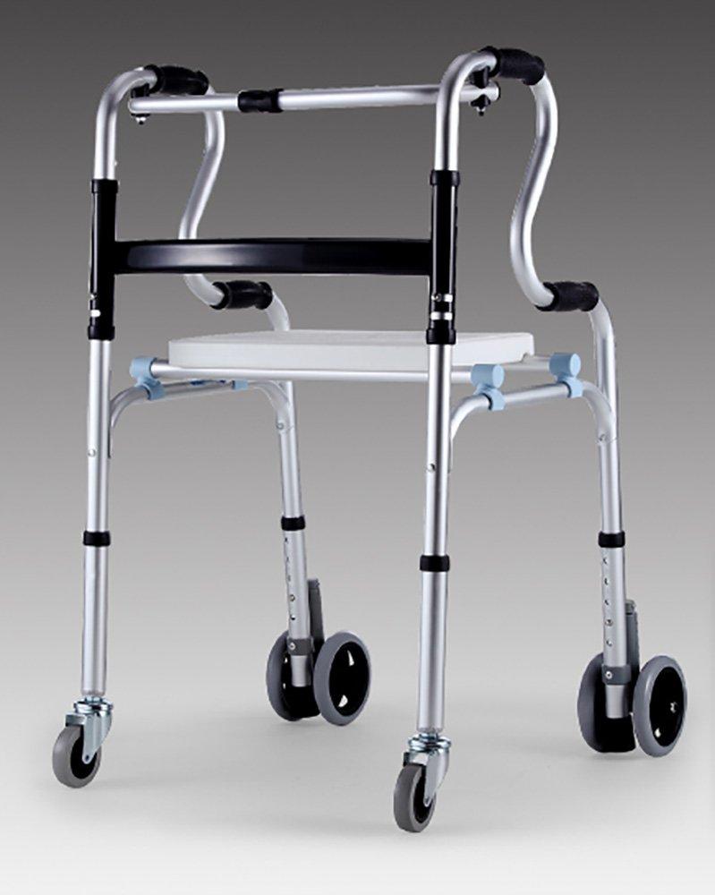 Mariny 障害を持つシートプーリーウォーカー肥厚アルミニウム合金の人々と高齢者の風水はバスを取ることができます座ることができる4フィート B07DCMS3HH
