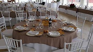 Silla Chiavari Blanca bodas, catering y eventos. Silla tiffany color blanco con cojín. Silla palillería con cojín. Silla de palillería blanca. Sillas catering.: Amazon.es: Industria, empresas y ciencia