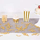 ZOOYOO Gold Glitter Music Note Paper Confetti Table Confetti for Music Themed Events Pack of 100