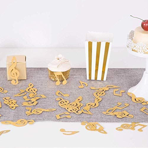 ZOOYOO Gold Glitter Music Note Paper Confetti Table Confetti for Music Themed Events Pack of ()