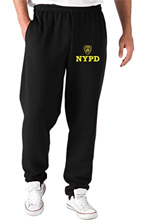 Dec0233 T Pantalons Nypd Shirtshock De Survetement Noir Police gYb76yvf