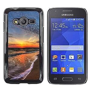 LECELL -- Funda protectora / Cubierta / Piel For Samsung Galaxy Ace 4 G313 SM-G313F -- Sunset Sea Beautiful Nature 15 --