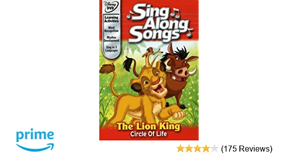 Amazon com: Disney's Sing Along Songs - The Lion King Circle
