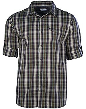 Men's City Voyager Plaid Long Sleeve Shirt