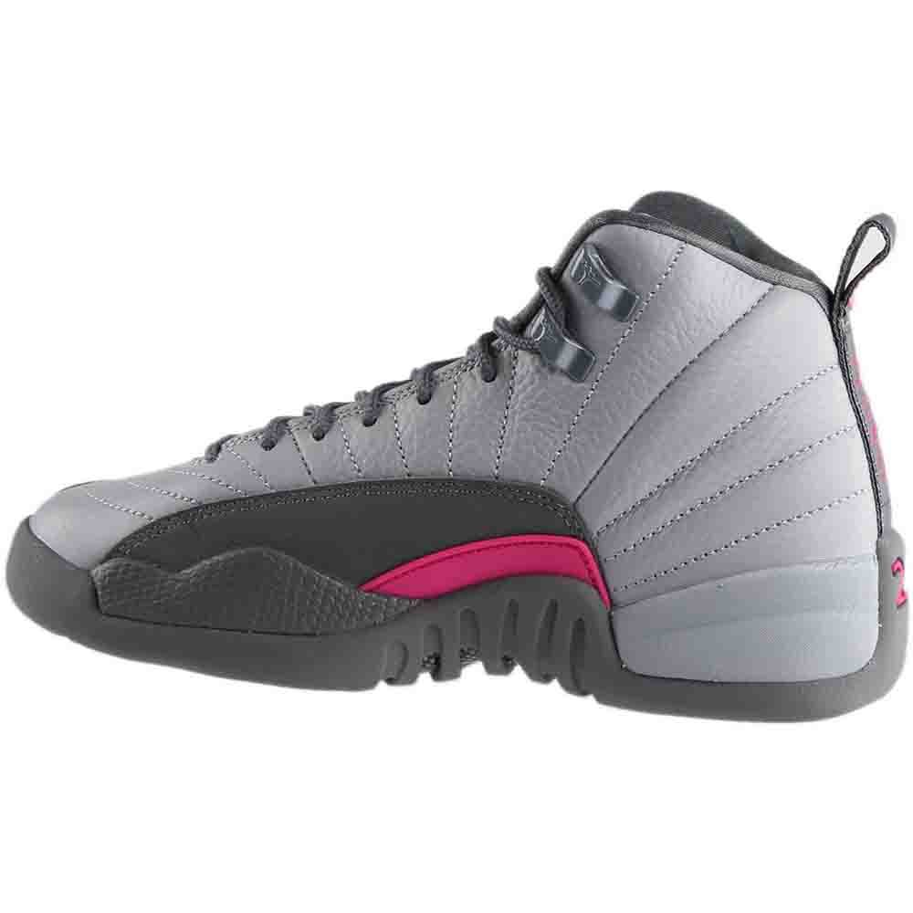 premium selection b1a24 2d460 Amazon.com   NIKE Air Jordan 12 Retro GG Basketball Sneaker White Gray    Basketball