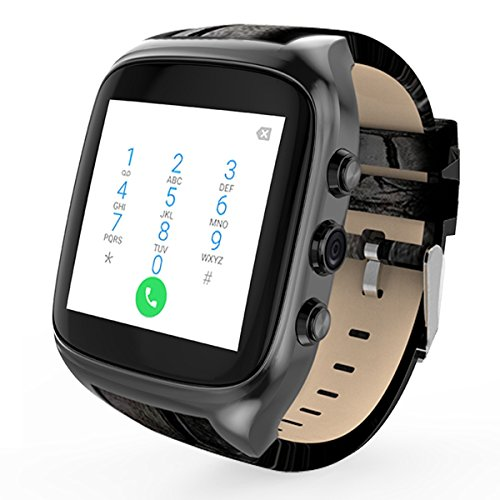 Waterproof Smart Watch Android 5.1 Mobile Phone MTK6580 with GPS - Black by OLSUS