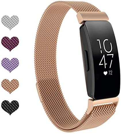 Fundro Compatible Alta HR and Alta,Stainless Steel Metal Bracelet Strap Replacement Wristband Magnetic Lock for Alta Women Men