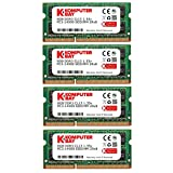"Komputerbay 32GB (4x8GB) Apple Memory Upgrade for Late 2015 iMac 27"" DDR3 1867Mhz PC3-14900 SODIMM 2Rx8 CL13 1.35v RAM"