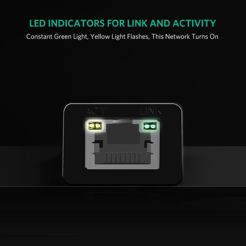 UGREEN Network Adapter USB 3.0 to Ethernet RJ45 Lan Gigabit Adapter for 10/100/1000 Mbps Ethernet Supports Nintendo Switch Black by UGREEN (Image #7)