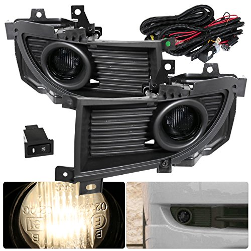 (AJP Distributors For 2004 2005 2006 04 05 06 Mitsubishi Lancer Driving Replacement Fog Lights Lamps Assembly Upgrade Set Left Right (Smoke) )