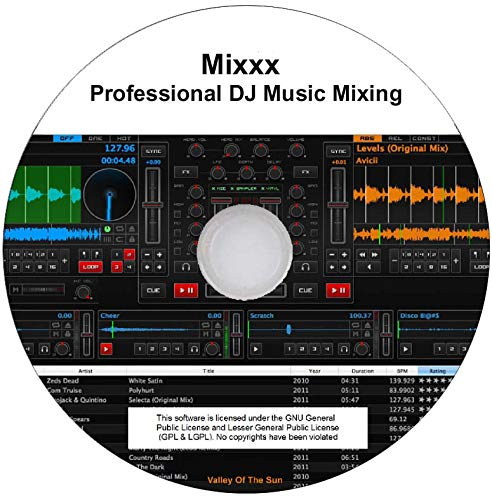 Professional DJ Music Mixing Software | Virtual DJ Serato Alternative | Controller Support for Windows & Mac | DJ or Karaoke [Mixxx PRO]