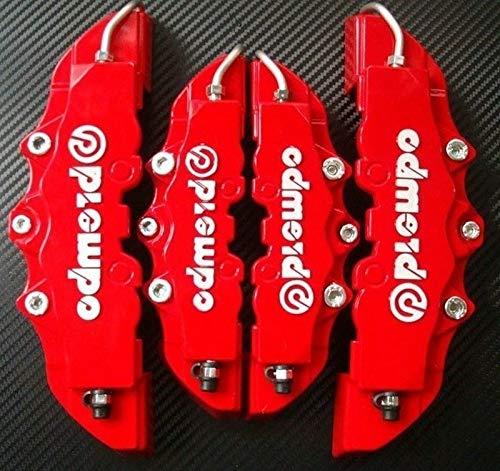 Multi-purpose Auto Tools 4Pcs 3D Useful Car Universal Disc Brake Caliper Covers Front & Rear(Red)