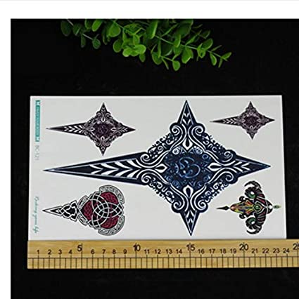 yyyDL Tatuaje en el pecho Flash flor negra mágica grande Tatuajes ...