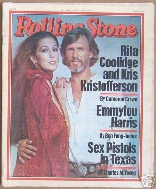 ROLLING STONE MAGAZINE # 259--RITA COOLIDGE & KRIS KRISTOFFERSON