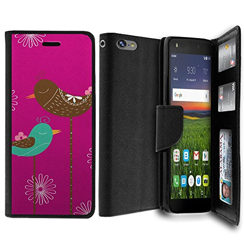 Case Apple iPhone 8 Wallet Case, iPhone 8 Card Holder Case [MAX WALLET] Dual Purpose Wallet Case, Phone Protector Design Card ID Custom Print Design By Untouchble - Resting Birds (Bird Resting)