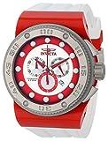 Invicta Men's 12318 Akula Chronograph Silver Dial White Silicone Watch