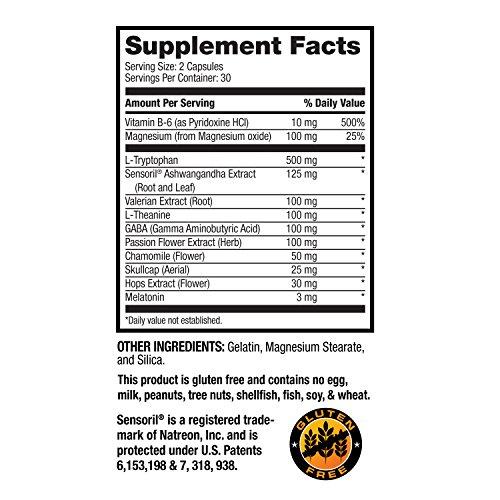 Optim Nutrition Advanced Sleep Formula   Natural Sleep Aid