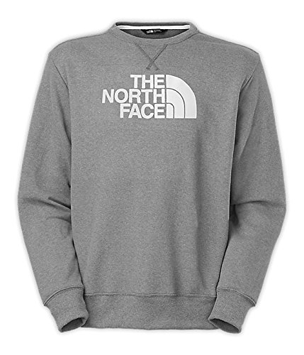 The North Face Half Dome Fleece Crew Mens Heather Grey/TNF White ()