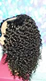 20 INCH SEWN U PART HUMAN HAIR WIG BRAZILIAN VIRGIN DEEP WAVY MEDIUM HANDMADE