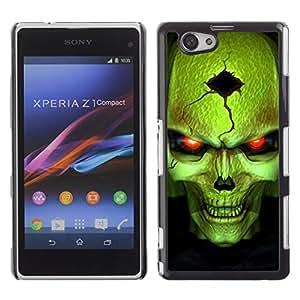 - Skull Devil Diablo - - Monedero pared Design Premium cuero del tir¨®n magn¨¦tico delgado del caso de la cubierta pata de ca FOR Sony Xperia Z1 M51W Z1 mini D5503 Funny House