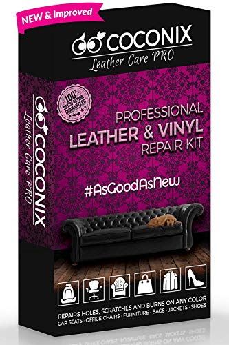 Coconix Vinyl and Leather Repair Kit - Restorer of Your Furniture, Jacket, Sofa, Boat or Car Seat, Super Easy Instructions to Match Any Color, Restore Any Material, Bonded, Italian, Pleather, Genuine (Chocolate Bicast Leather)